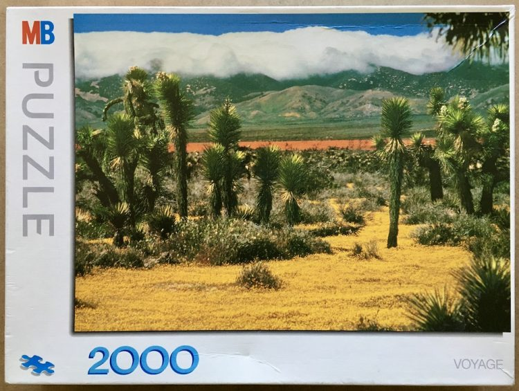 Image of the puzzle 2000, MB, California Desert, by Christopher Comstock, Sealed Bag, Picture of the box