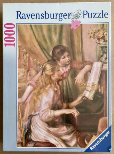 Image of the puzzle 1000, Ravensburger, Young Girls at the Piano, by Pierre-Auguste Renoir, Factory Sealed