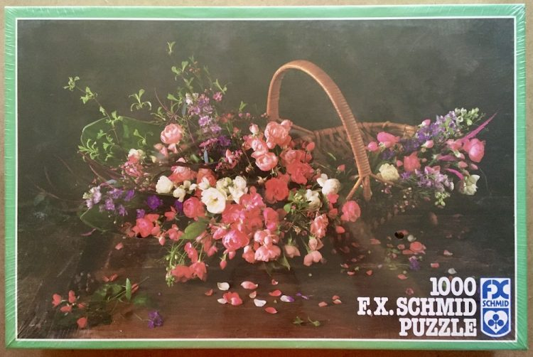 Image of the puzzle 1000, F.X. Schmid, Flower Basket, by Ulrike Schneiders, Factory Sealed