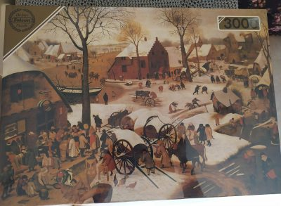Image of the puzzle 3000, Falcon, Payment of Tax at Bethlehem, by Pieter Brueghel the Younger