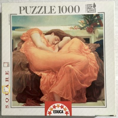 Image of the puzzle 1000, Educa, Flaming June, by Frederic Leighton, Sealed Bag, Picture of the box