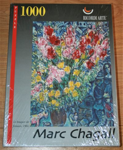 Image of the puzzle 1000 Ricordi, Le Bouquet des Fermiers, by Marc Chagall, Picture of the box