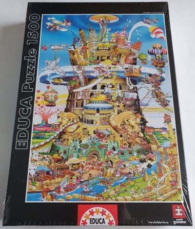 Image of the puzzle 1500, Educa, The Tower of Babel, by Robert Crisp, Factory Sealed
