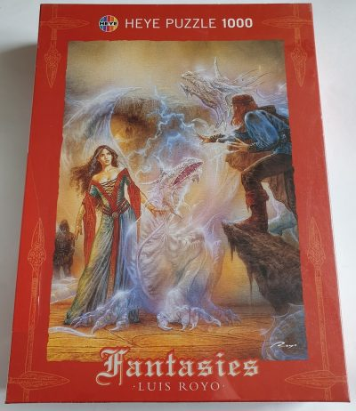 Image of the puzzle 1000, Heye, Spell, by Luis Royo, Factory Sealed, Picture of the box