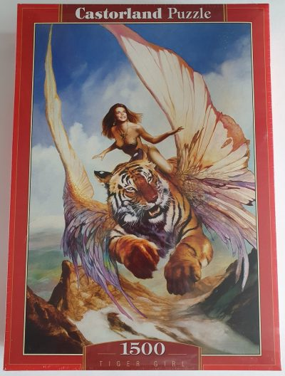 Image of the puzzle 1500, Castorland, Tiger Girl, by Julie Bell & Boris Vallejo, Factory Sealed
