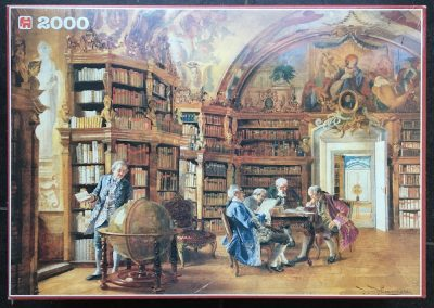 Image of the puzzle 2000, Jumbo, In the Library, by Johann Hamza, Factory Sealed