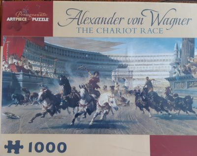 Image of the puzzle 1000, Pomegranate, The Chariot Race, by Alexander von Wagner, Factory Sealed
