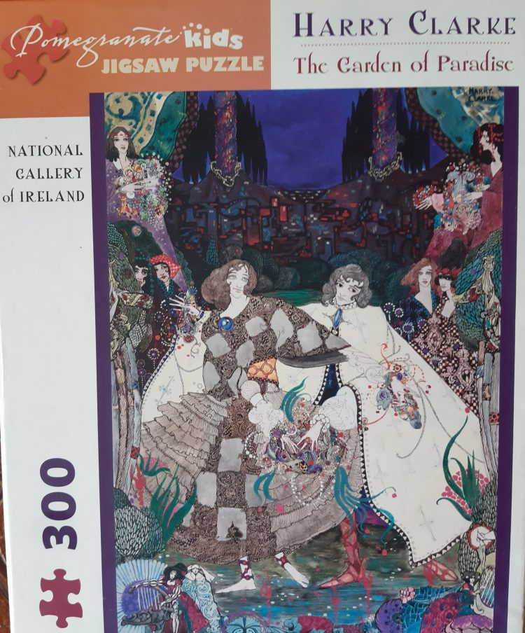 Image of the puzzle 300, Pomegranate, The Garden of Paradise, by Harry Clarke, Complete, Picture of the box