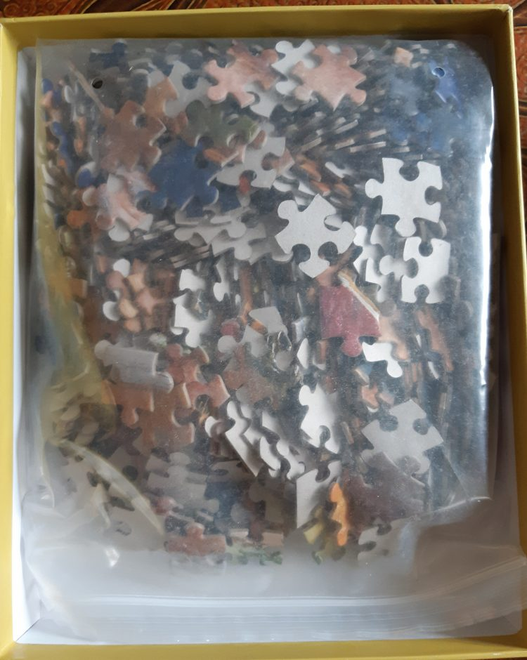 Image of the puzzle 500, Pomegranate, The Bridesmaid, by John Everett Millais, Sealed Bag, Picture of the bag