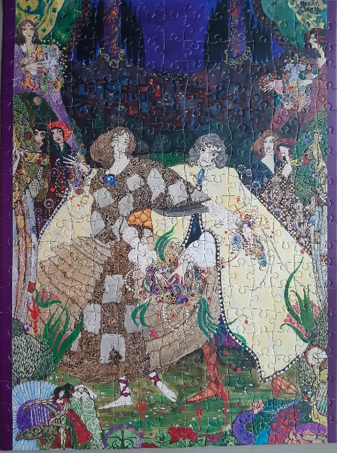 Image of the puzzle 300, Pomegranate, The Garden of Paradise, by Harry Clarke, Complete, Picture of the puzzle