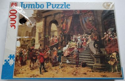 Image of the puzzle 3000, Jumbo, The Celebration, by Oreste Cortazzo, Factory Sealed, Picture of the box