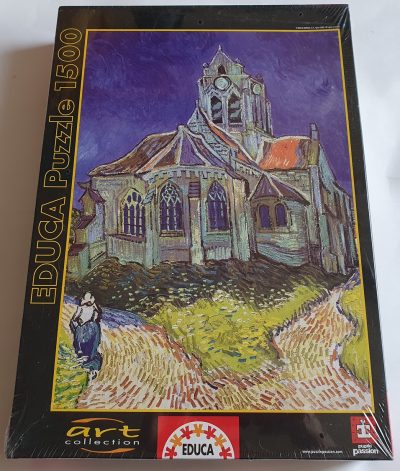 Image of the puzzle 1500, Educa, The Church of Auvers, by Vincent van Gogh, Factory Sealed