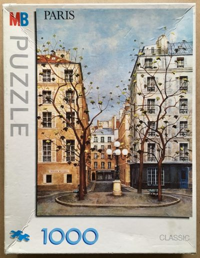 Image of the puzzle 1000, MB, Furstenberg Square, Paris, by André Renoux, Complete, Picture of the box