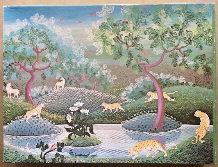 Image of the puzzle 1500, International Team, Jungle with Leopards, by Irene Invrea, Complete, Picture of the box