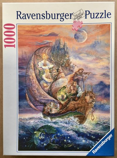 Image of the puzzle 1000, Ravensburger, Voyage to Murrlis Sea, by Josephine Wall, Sealed Bag, Picture of the box