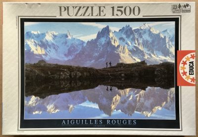 Image of the puzzle 1500, Educa, Aiguilles Rouges, Chamonix, by Mario Colonel, Sealed Bag, Picture of the box