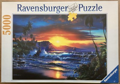 Image of the puzzle 5000, Ravensburger, Daybreak, by Christian Riese Lassen, Sealed Bag, Picture of the box