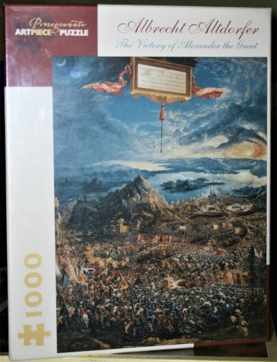 Image of the puzzle 1000 Pomegranate, The Victory of Alexander the Great, by Albrecht Altdorfer, Factory Sealed