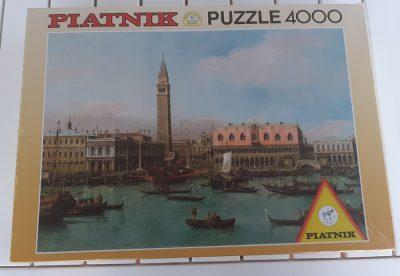 Image of the puzzle 4000, Piatnik, Piazzetta Bacino di San Marco in Venedig, Canaletto, Picture of the box
