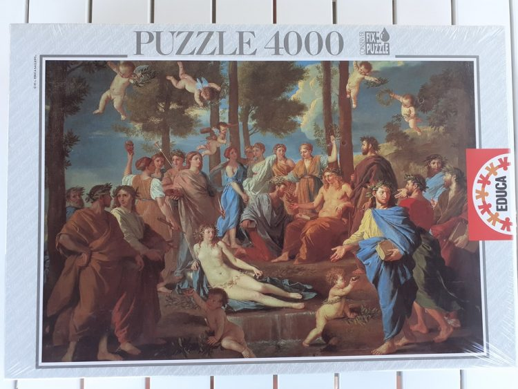 Image of the puzzle 4000, Educa, Le Parnasse, Nicolas Poussin, Factory Sealed