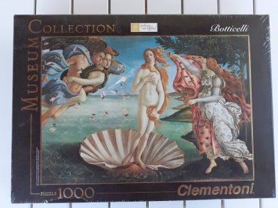 Image of the puzzle 1000, Clementoni, The Birth of Venus, by Sandro Botticelli, Factory Sealed, Picture of the box