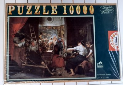 Image of the puzzle 10000, Educa, Las Hilanderas, by Diego Velázquez, Factory Sealed, Picture of the box