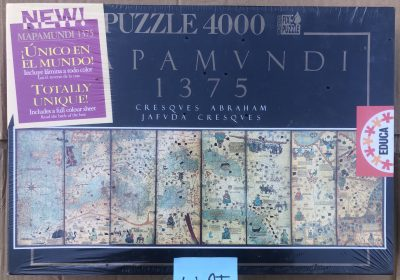 Image of the puzzle 4000, Educa, Mapamundi 1375, Cresques Abraham, Factory Sealed
