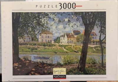 Image of the puzzle 3000, Nathan, Village on the Banks of the Seine, by Alfred Sisley, Factroy Sealed