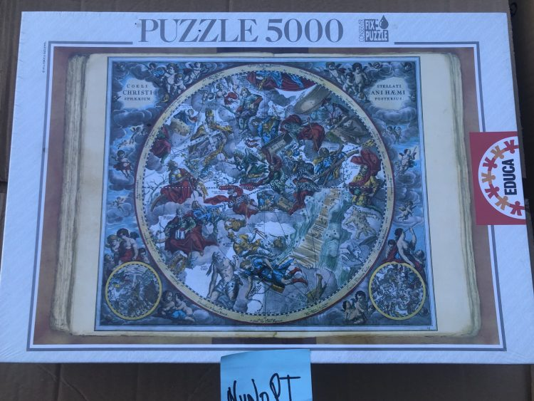Image of the puzzle 5000, Educa, Celestial Planisphere, Andreas Cellarius, Factory Sealed, Picture of the box
