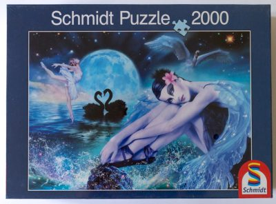 Image of the puzzle 2000, Schmidt, Black Swan, by Gilda Belin, Factory Sealed