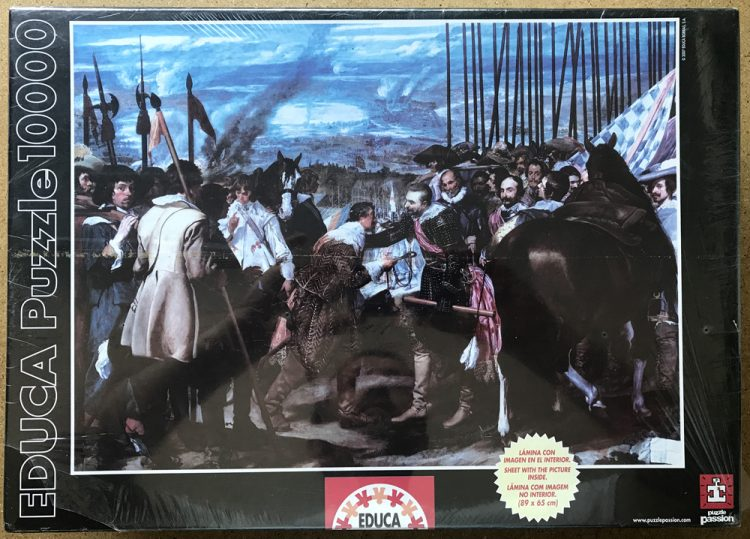 Image of the puzzle 10000, Educa, The Surrender of Breda, by Diego Velázquez, Factory Sealed, Picture of the box