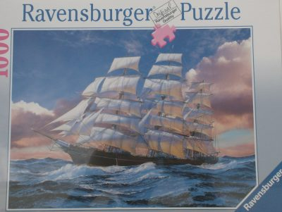 Image of the puzzle 1000, Ravensburger, Cutty Sark Sailing Ship, by Walter Pepperle, Factory Sealed