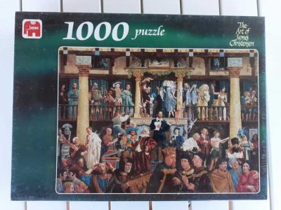 Image of the puzzle 1000, Jumbo, All the World's a Stage, by James Christensen, Factory Sealed