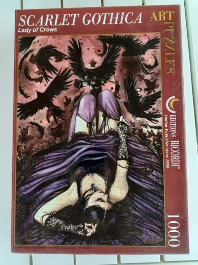Image of the puzzle 1000 Ricordi, Lady of Crows, by Scarlet Gothica, Factory Sealed