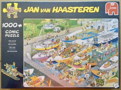 Image of the puzzle 1000, Jumbo, The Locks, by Jan van Haasteren