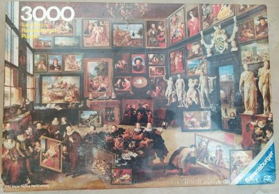 Image of the puzzle 3000, Ravensburger, Visit in the Art Gallery, by Willem van Haecht, PIcture of the box