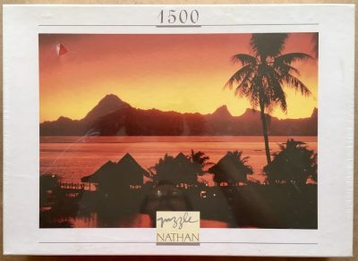 Image of the puzzle 1500, Nathan, Tahitian Night, by David Hiser, Factory Sealed