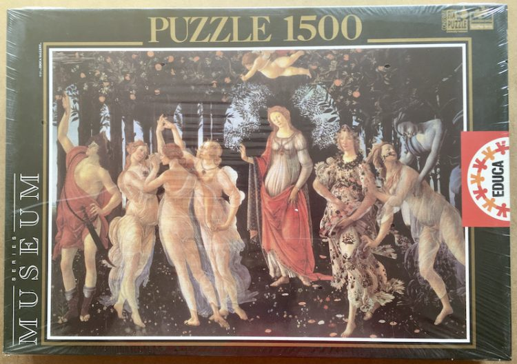 Image of the puzzle 1500, Educa, Allegory of Spring, by Sandro Botticelli, Factory Sealed