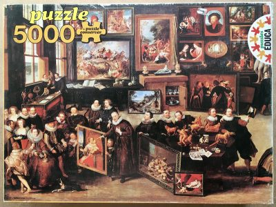 Image of the puzzle 5000, Educa, Art Studio, Rubens' House, by Willem van Haecht, Sealed Bag, Picture of the box