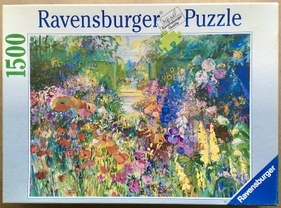 Image of the puzzle 1500, Ravensburger, Summer Garden, by Helen Lea, Complete, Picture of the box