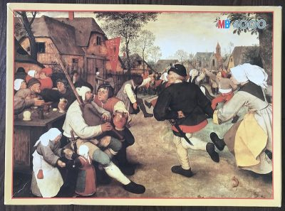 Image of the puzzle 4000, MB, The Peasant Dance, by Pieter Bruegel the Elder, Complete, Picture of the box
