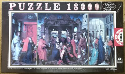 Image of the puzzle 18000, Educa, St. Columba Altarpiece, by Rogier van der Weyden, Factory Sealed, Picture of the box