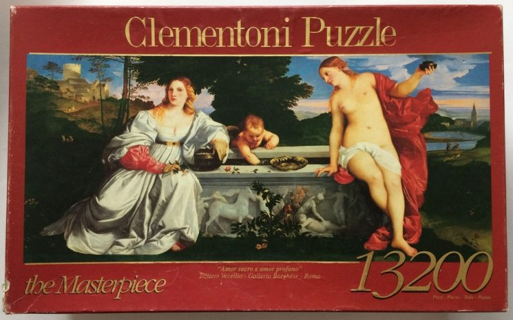 Image of the puzzle 13200, Clementoni, Sacred and Profane Love, by Titian, Sealed Bag, Picture of the box