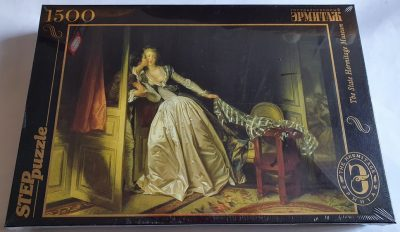 Image of the puzzle 1500, Step, Stolen Kiss, by Jean-Honoré Fragonard, Factory Sealed