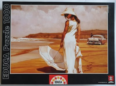 Image of the puzzle 1000, Educa, Woman with a Parasol, by Mark Spain, Sealed Bag, Picture of the box