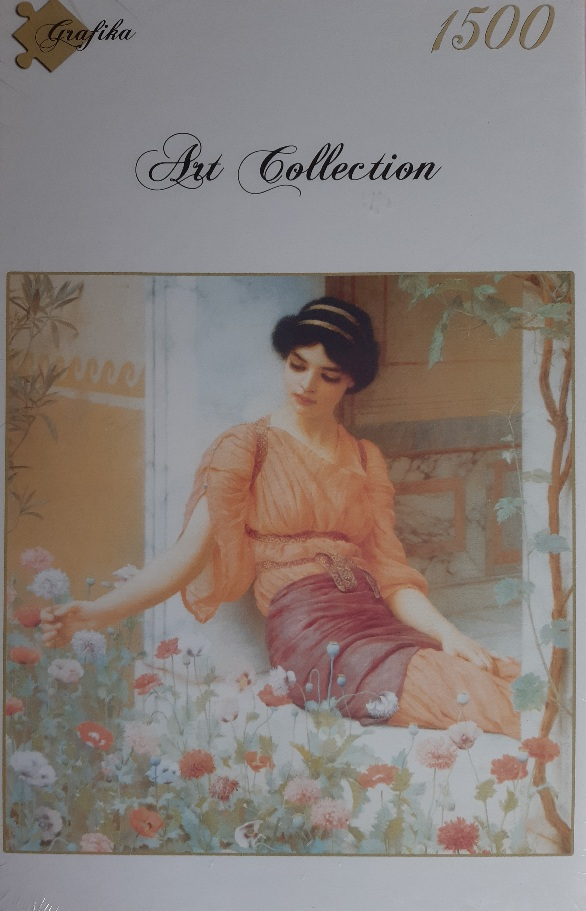Image of the puzzle 1500, Grafika, Summer Flowers, John William Godward, Factory Sealed