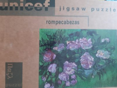 Image of the puzzle 1000, Unicef, Pink Roses, by Vincent an Gogh, Factory Sealed