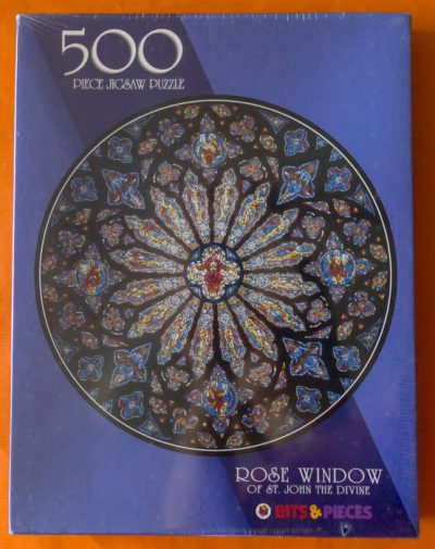 Image of the puzzle 500, Bits and Pieces, Rose Window of St. John the Divine Cathedral, Factory Sealed
