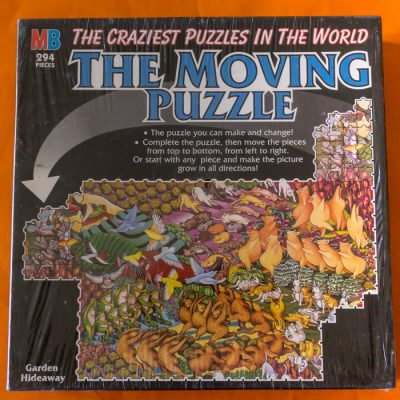 Image of the puzzle 294, MB, Garden Hideaway (Moving Puzzle), Factory Sealed, Picture of the box
