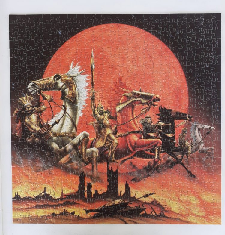 Image of the puzzle 625, Falcon, The Four Horsemen, Rodney Matthews, Complete, Picture of the puzzle assembled